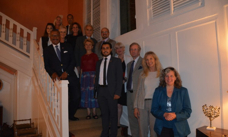 Ambassador Bush held an event in honor of Search for Common Ground's President Shamil Idriss